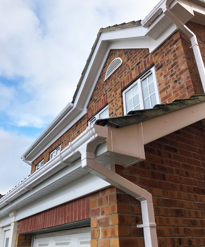 image showing recently installed fascias and soffits in sheffield